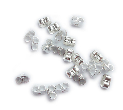 Earring Back Stoppers Steel Metal Plug Post Ear Stud Nuts Butterfly Backings