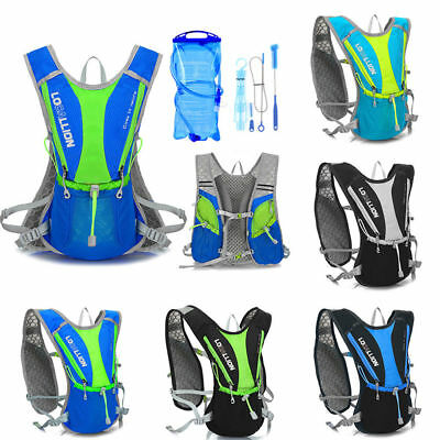 Running Cycling Large Vest Backpack Sports Camping Hydration Water Bladder Bag