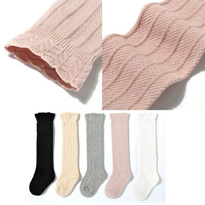 Baby Toddler Girl Cotton Lace Knee High Socks Tights Leg Warmer Stockings 0-3Y