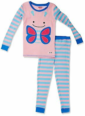 SkipHop Zoo Little Kid and Toddler Pajama Set, Blossom Butterfly, 5T
