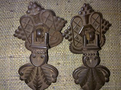 Edwardian drop handles x 2,cast iron, antique or vintage (ST5)