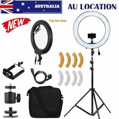 "14"" ES180 5500K Dimmable Diva LED Ring Light with Diffuser Stand Make Up Studio"