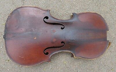 old  full size 4/4 violin body for parts repair Celebre Vosgien label