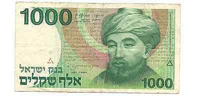 1983 Bank of Israel 1000 Sheqalim Foreign World Banknote