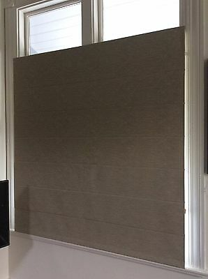 ROMAN BLIND  BY BEACH  - FULL BLOCK OUT, BEIGE SELF TEXTURED PATTERN #4   3s