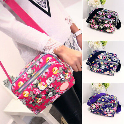 Women Floral Crossbody Handbag Messenger Bag Travel Cross Over Bag Multi-color
