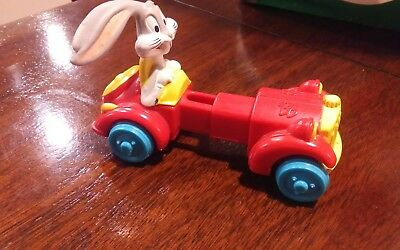Looney Tunes Toy Car with Bugs Bunny 1992 Kids meal prize toy