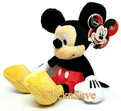 "New 10"" Disney Cutie Smile Mickey Mouse Soft Plus Christmas Gift Toy"