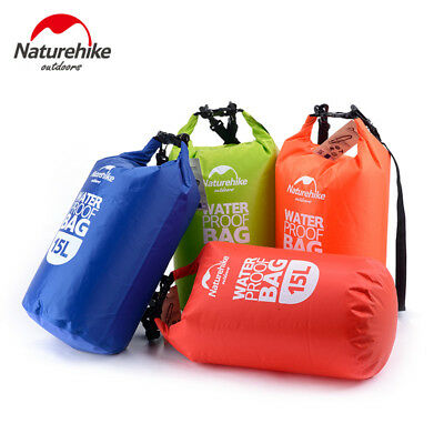 NatureHike Outdoor Waterproof Dry Bag Pouch Camping Boating Kayaking Rafting 15L