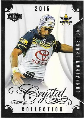 2017 NRL Elite Crystal Collection (CC 29) Jonathan THURSTON Cowboys 2015