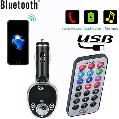 Car Kit TF Card MP3 Player FM Transmitter Wireless Radio Adapter USB Charger
