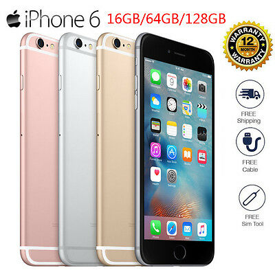 New A PPLE i Phone 6s / 6 128GB Factory Unlocked 4G Smartphone Silver/Gold/Grey@