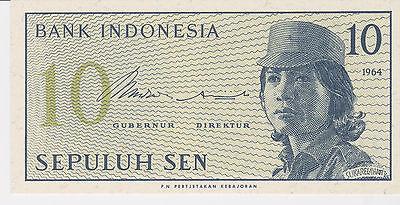 Indonesia banknote ten sen 1964