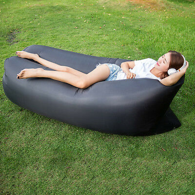 Inflatable Lounger Chair Outdoor Air Sleeping Bag Portable Compression Sofa New