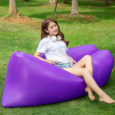 New Outdoor Air Sleeping Bag Inflatable Lounger Chair, Portable Compression Sofa