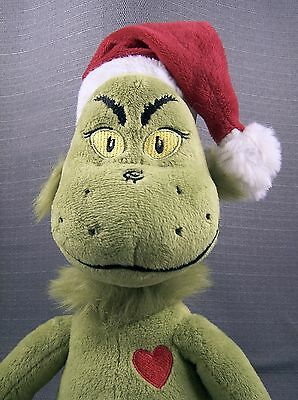 """DR SEUSS How The Grinch Stole Christmas 16"""" Plush 'The Grinch' Doll 