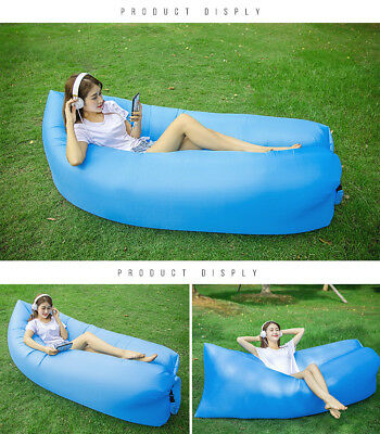 Outdoor Air Sleeping Bag ,Inflatable Lounger Chair, Portable Sofa--Blue