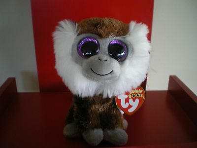 Ty Beanie Boos TAMOO the monkey 6 inch  NWT.  IN STOCK NOW.