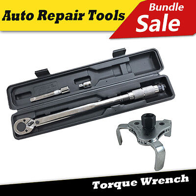 Toolrock Click Type Adjustable Torque Wrench Ratchet Spanner & Oil Filter Wrench