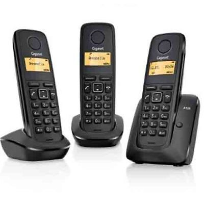 Gigaset A120 DECT Trio Cordless Phone with ECO Function, Black