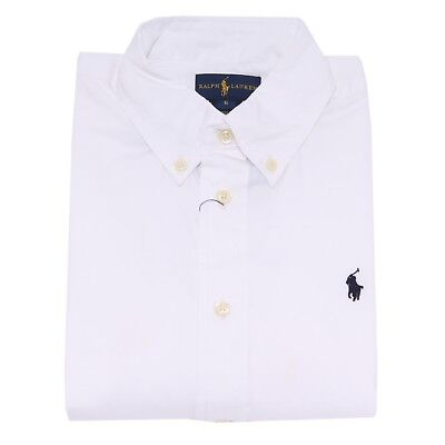 4094T camicia bimbo RALPH LAUREN bianco shirt long sleeve kid