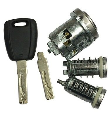 OEM Lock Set (Short Back) with Blank Key And Flip Blade For Fiat Doblo - Punto