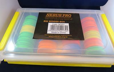 NERUS PRO EVA RIG WINDER BOX 36 WINDERS inc FOR RIGS,LINE LEADER, HAIR RIG HOOKS