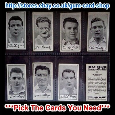 Barratt & Co - Famous Footballers 1956 - A.4  (G/F) *Pick The Cards You Need*