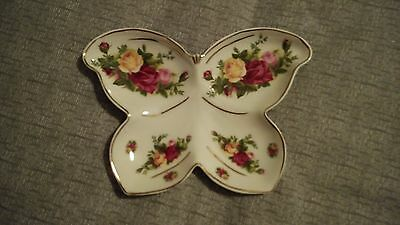 NEW Royal Albert-Old Country Roses-Butterfly Dish with Box
