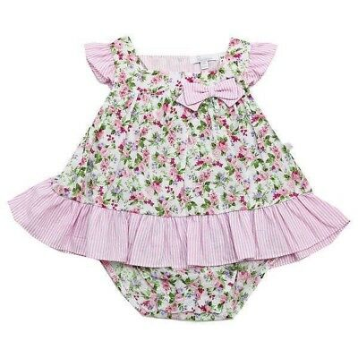 Plum Baby Floral Playsuit Bodysuit Romper One Piece Infant Girl Size 00 000