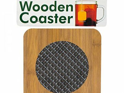 Wooden Coaster With Basketweave Pattern - Set of 12, [Kitchen & Dining,