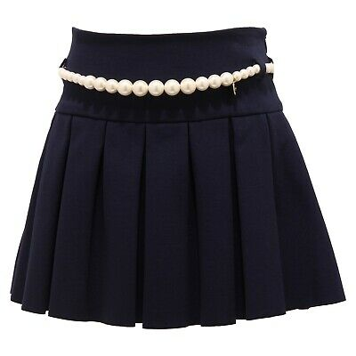 3945T gonna bimba LANVIN viscosa blu cintura in perle skirt kid