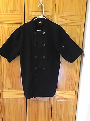 Dickie's Professional Chef Shirt Black Short Sleeve Size XS NWOT