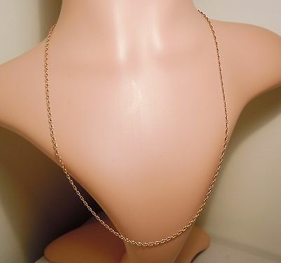 100% Genuine Vintage 9ct. Solid Yellow Gold Overlapping Link Necklace 56 cm