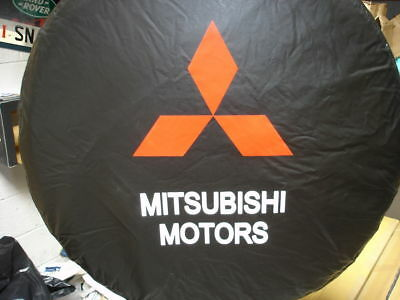 Mitsubishi Pinin Flexible Spare Wheel Cover 4X4 Black With Logo