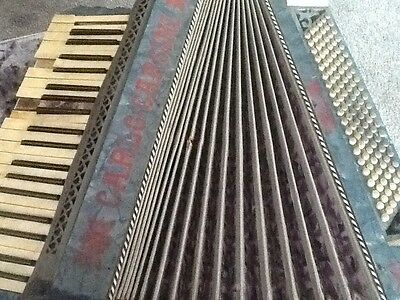 piano accordion by Carlo Cassini restoration project shop display ornament