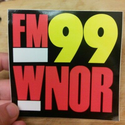 WNOR rock radio station sticker 98.7 FM Norfolk, Virgina