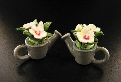 Miniature Dollhouse Fairy Garden Flowers in Watering Can Set  #5 - Buy 3 Save $5
