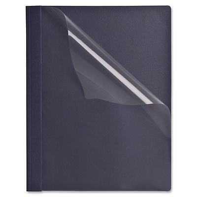 """Sparco Clear Front Report Covers, 1/2"""" Capacity, 25/BX, Dark Blue 71464"""