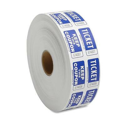 Sparco Ticket Roll, Double w/Coupon, 2000/RL, Blue 99230