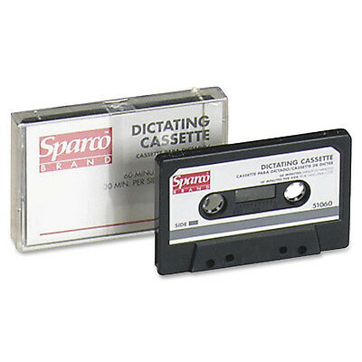 Sparco Dictation Cassette, Standard, 60 Minute 51060