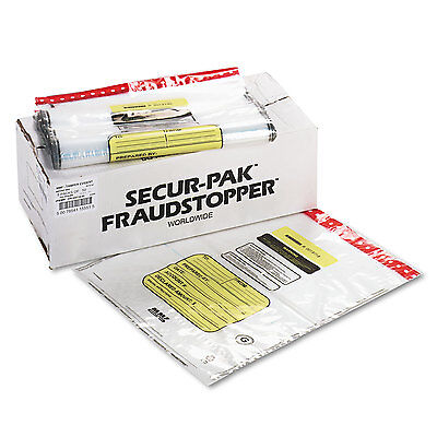 Mmf Industries 12 Bundle Capacity Tamper-Evident Cash Bags 20 x 24 Clear 250