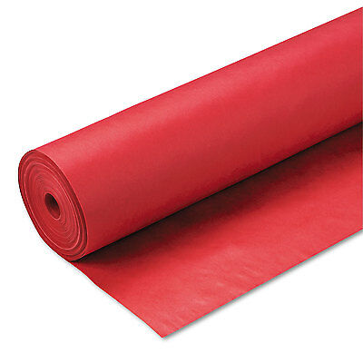 """Pacon Spectra ArtKraft Duo-Finish Paper 48 lbs. 48"""" x 200 ft Scarlet 67044"""