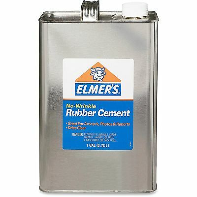 Elmers Rubber Cement Acid-free Photo Safe 1 Gallon Can Clear 234