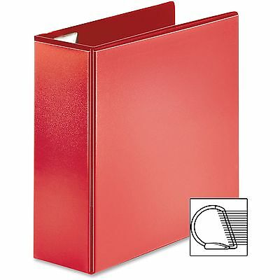 "Sparco D-Ring View Binder, 4"" Capacity, 11""x8-1/2"", Red 26983"
