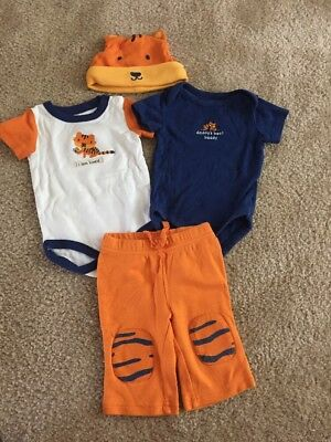 Gymboree Baby Boys Tiger Body Suit Pants Outfit Size 0-3 Months