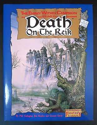 Death On The Reik Warhammer Fantasy Roleplay - NEW - fold-out map still attached
