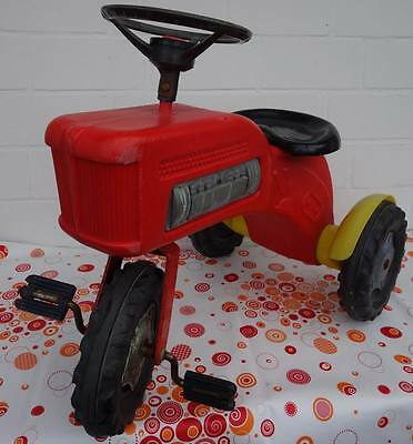 Vintage 1970 Dreirad Tret Traktor Bulldog Pedal Car Made in Western Germany