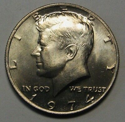 1974 John F Kennedy Clad Half Dollar In Choice BU Condition From Mint Set  DUTCH