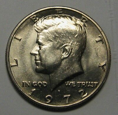 1972-D John F Kennedy Clad Half Dollar Choice BU Condition From Mint Set  DUTCH